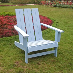 Duckett Solid Wood Adirondack Chair by Highland Dunes Great Reviews