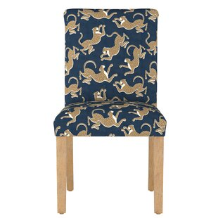 Malaya Leopard Upholstered Dining Chair Bloomsbury Market