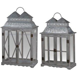 Set Of 2 Lanterns Wayfair