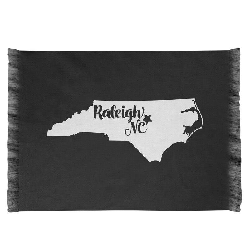 East Urban Home Raleigh North Carolina Black Area Rug Wayfair