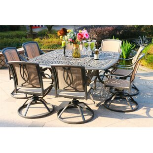 Barbieri Aluminum 9 Piece Dining Set