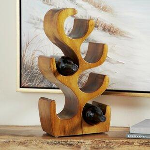 Chanhassen Natural Acacia Wood Tabletop Wine Bottle Rack