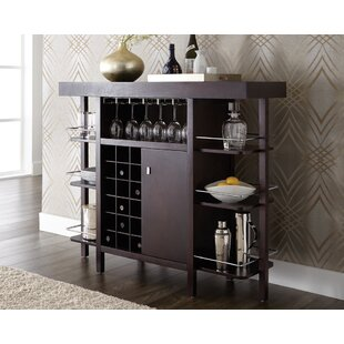 Sunpan Modern Ikon Philmore Drinks Bar with Wine Storage