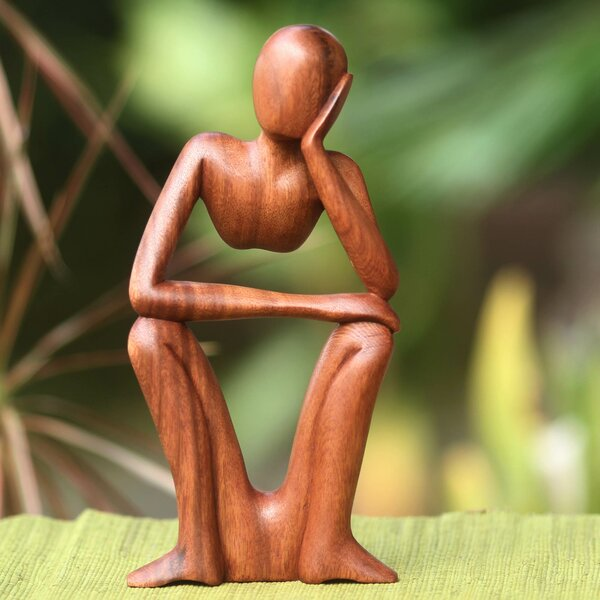 Handcrafted Wood Sculpture Wayfair
