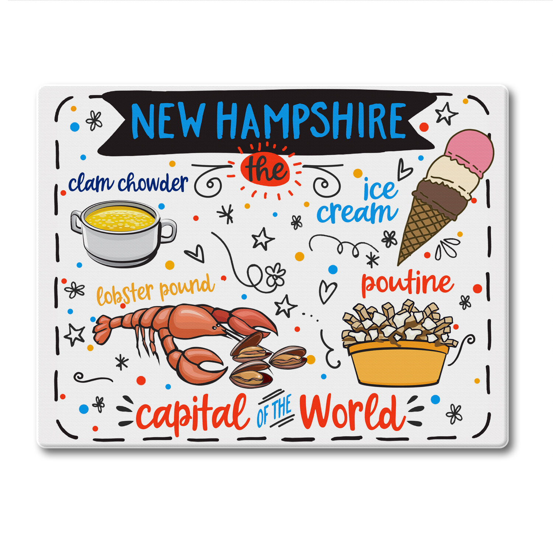 Counterart Glass New Hampshire State Foods Cutting Board Wayfair