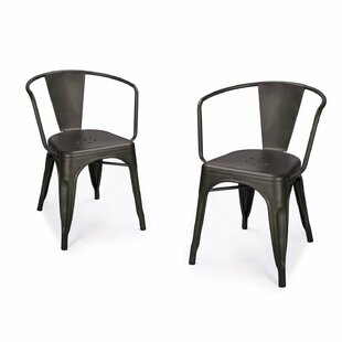 Halley Metal Dining Chair (Set of 2) by W..