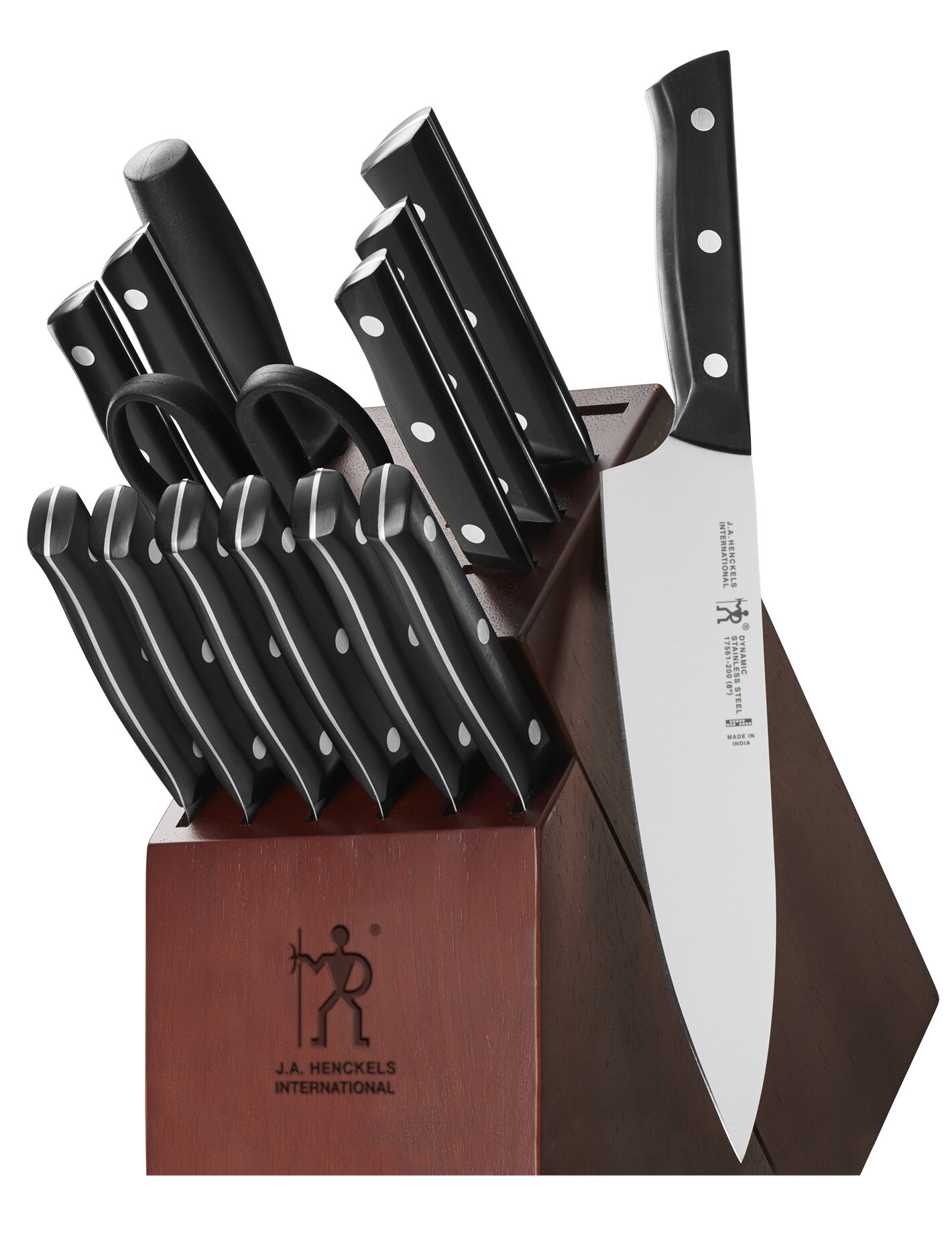 Henckels Dynamic 15 Piece Knife Block Set Reviews Wayfair