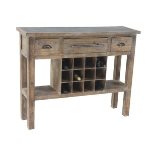 Loon Peak Barbery Rustic 12-Bottle Wine Console Table