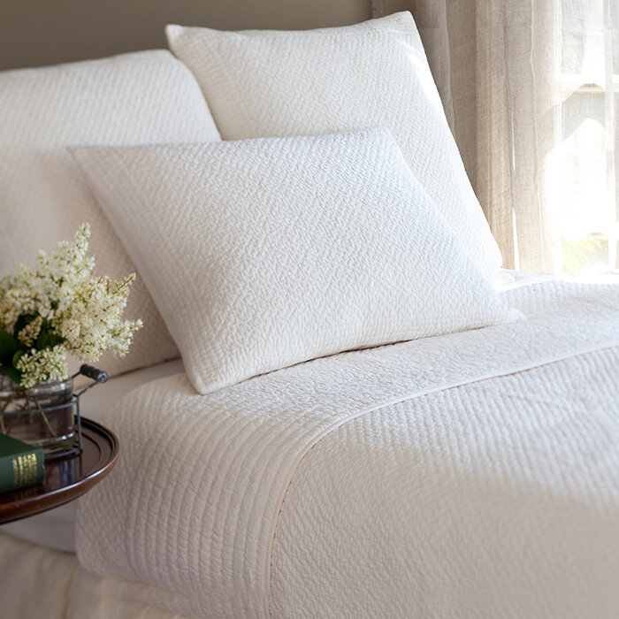 Taylor Linens Grace Egg White Cotton Quilt Wayfair