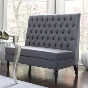Admirable Greenford 49 5 Tufted Settee Bench Pabps2019 Chair Design Images Pabps2019Com
