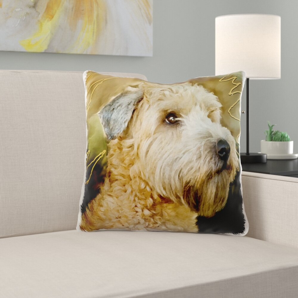 East Urban Home Mcphee Soft Coated Wheaten Terrier Portrait Pillow Cover Reviews Wayfair