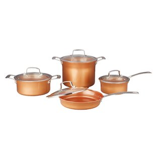 8 Piece Ceramic Coated Non-Stick Cookware Set