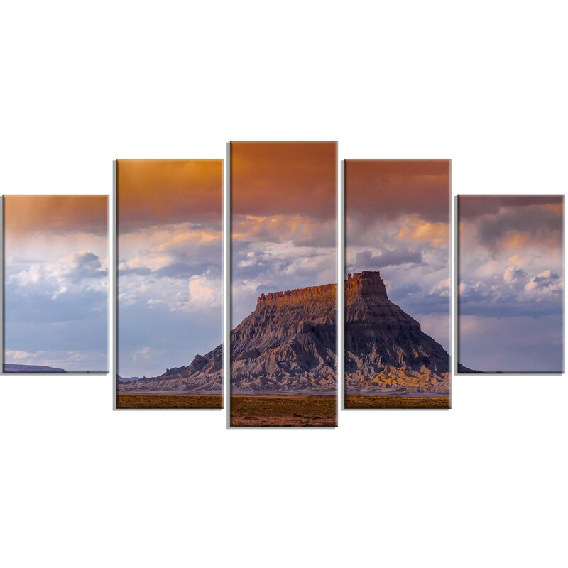Designart Factory Buttle Utah Panorama 5 Piece Photographic Print On Wrapped Canvas Set Wayfair