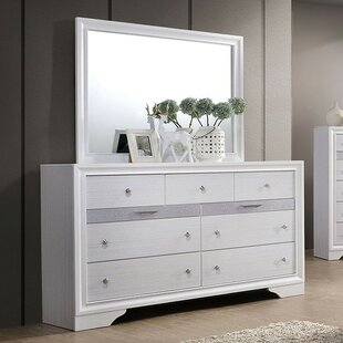 Embree 9 Drawer Double Dresser with Mirror
