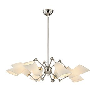 Corrigan Studio Vita 8 Light Shaded Chandelier