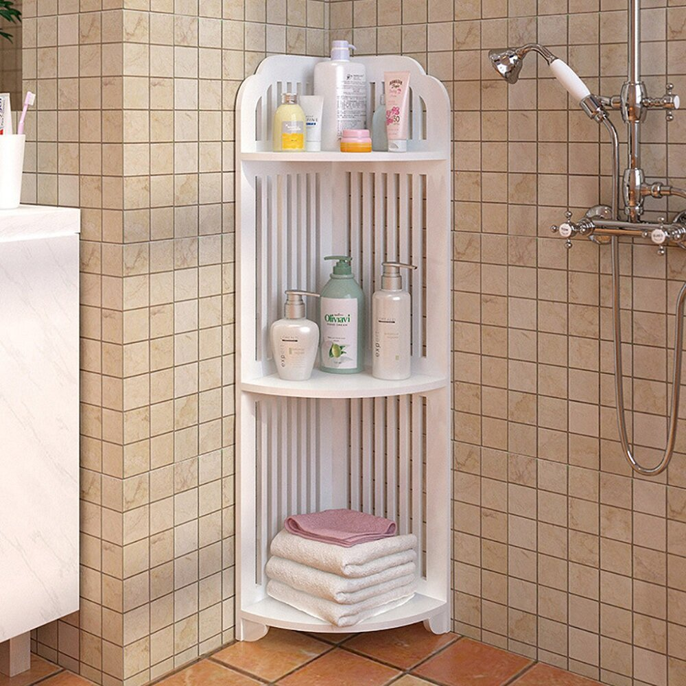 Red Barrel Studio Afsara 25 W X 31 5 H X 7 8 D Free Standing Bathroom Shelves Wayfair