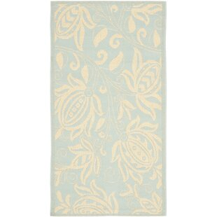 Laurel Aqua/Cream Indoor/Outdoor Area Rug