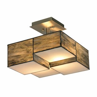 Goulart 2-Light Semi-Flush Mount by Brayden Studio