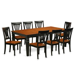 Beesley 9 Piece Extendable Solid Wood Dining Set by DarHome Co Best #1t