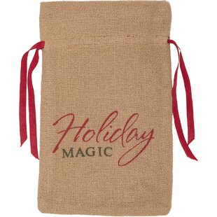 Castor Tabletop and Kitchen Burlap Magic Wine Bag Carrier