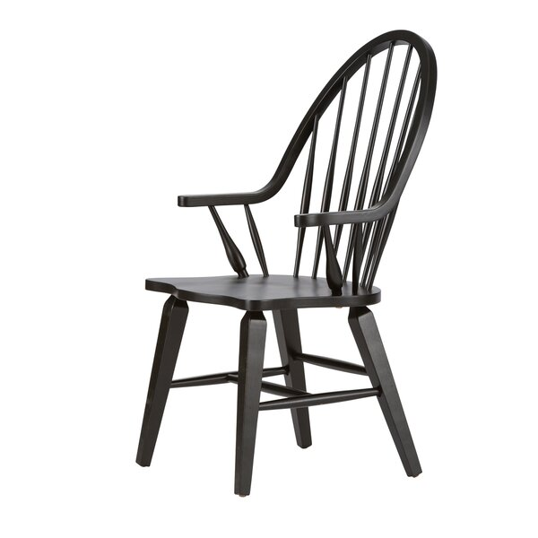 Black Windsor Chairs With Arms | Wayfair
