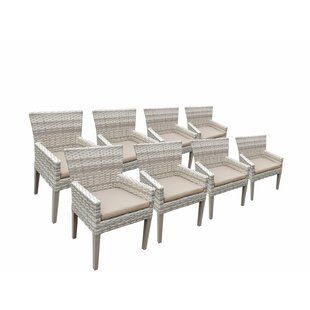 Rosecliff Heights Ansonia Outdoor Patio Dining Chair with Cushion (Set of 8)