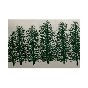 Wetterhorn Dark Green Indoor/Outdoor Area Rug