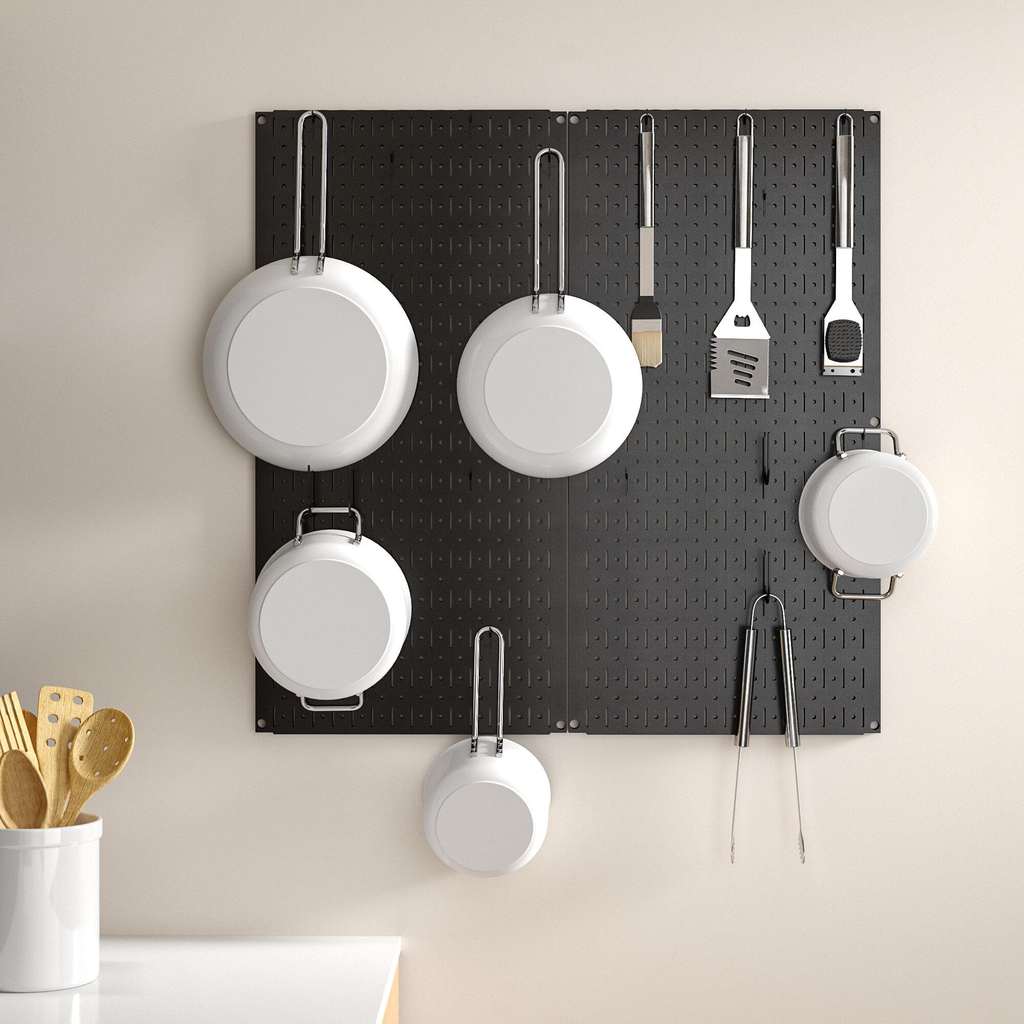 Dotted Line Kitchen Organizer Pots Pans Pegboard Pack Reviews Wayfair