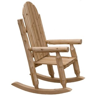 Mabe Solid Wood Rocking Adirondack Chair By Millwood Pines