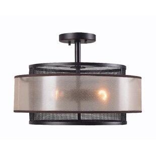 Ossipee 3-Light Semi Flush Mount by Trent Austin Design