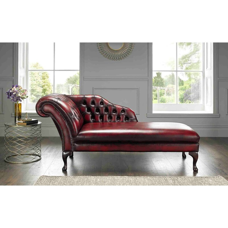 Elton Leather Chaise Lounge