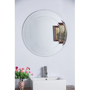 Round Frameless Bathroom/Vanity Wall Mirror By Bellaterra Home