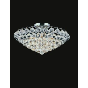 Glimmer 6-Light Semi Flush Mount by CWI Lighting