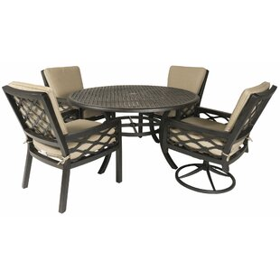 Fridley 5 Piece Sunbrella Dining Set
