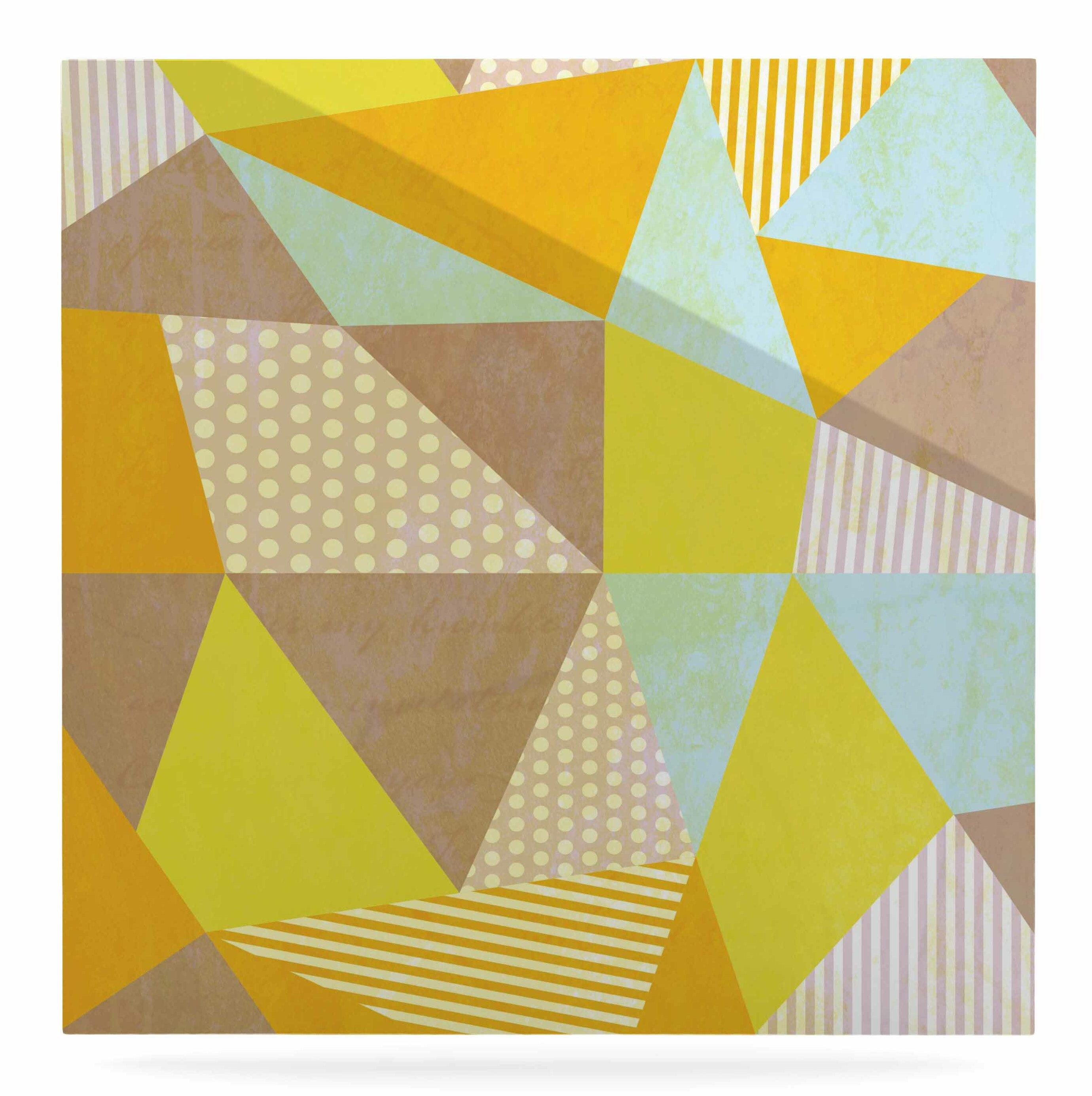 East Urban Home \'Geometric\' Graphic Art Print on Metal | Wayfair