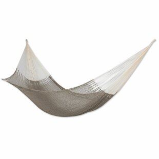 Fair Trade Maya Artists of The Yucatan Shaded Sand' Double Person Hand Woven Cotton Tree Hammock