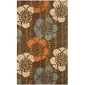 Charlotte Hand-Hooked Brown Area Rug