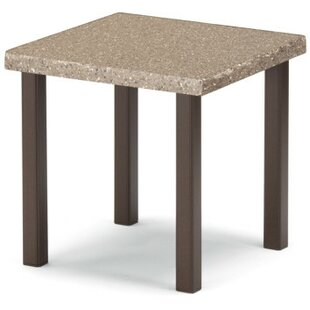 Synthestone Tables Square Aluminum SideTable