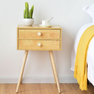 Turn on the Brights Colegrove 2 Drawer Nightstand