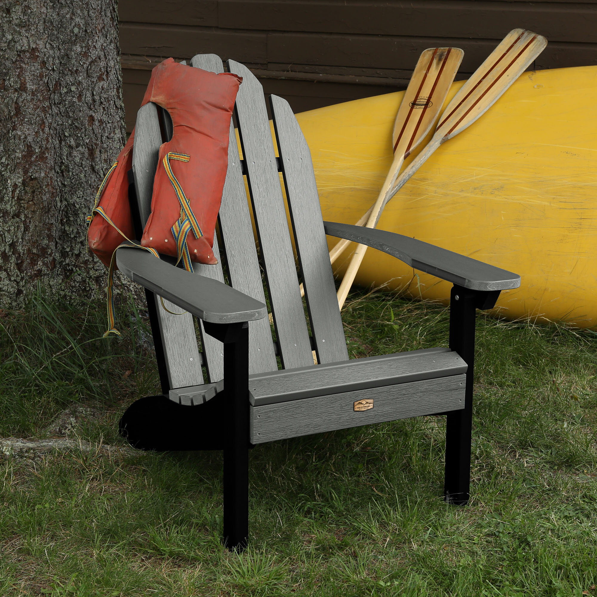 Picture of: Hamptonburgh Essential Plastic Resin Adirondack Chair Reviews Joss Main