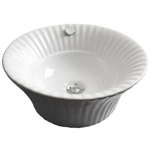 Great choice Ceramic Circular Vessel Bathroom Sink with Overflow By American Imaginations