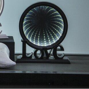 26-Light Circular Mirror Lamp By 17 Stories