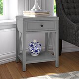 Nadeau Solid Wood End Table with Storage by Andover Mills™
