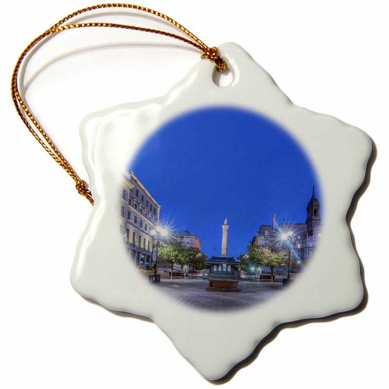 The Holiday Aisle Canada Quebec Montreal Old Montreal At Dawn Snowflake Holiday Shaped Ornament Wayfair