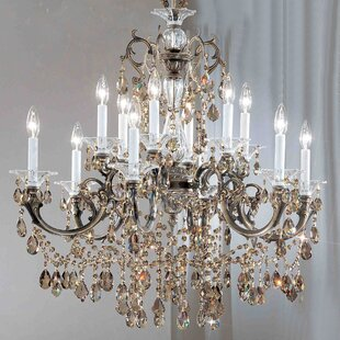 Via Venteo 12-Light Candle Style Chandelier by Classic Lighting