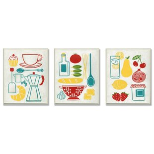 Sunday Breakfast Dinner And Picnic 3 Piece Kitchen Wall Plaque Set