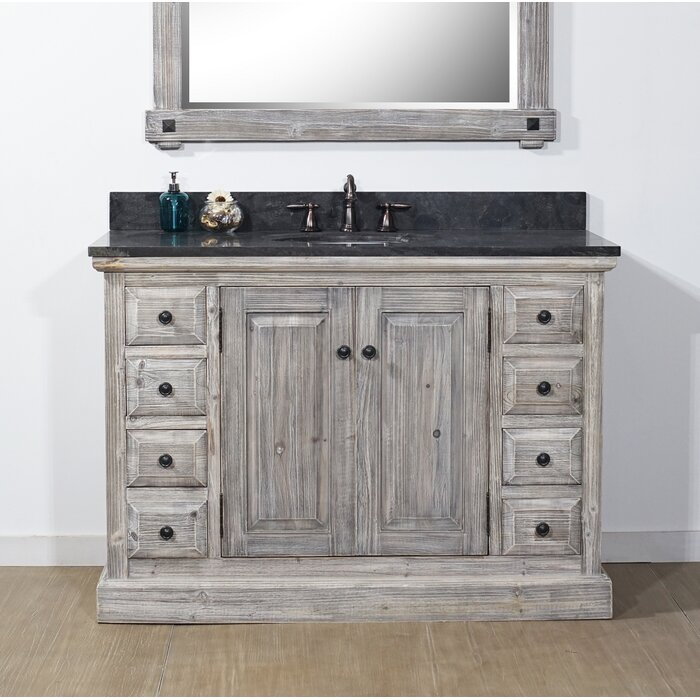 Carlton 48 Rustic Single Bathroom Vanity Set