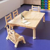 Rectangular 4-Student Activity Table & Chair Set