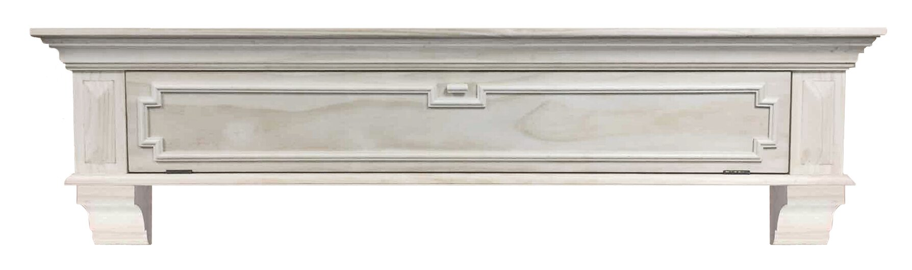 pearl mantels thomas drop front storage fireplace mantel shelf