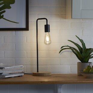 Reidy Exposed Bulb Metal 20'' Desk Table Lamp